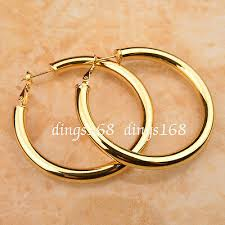 18k white gold filled tarnish free clic 2 inch round hoop earrings c792w fine earrings jewelry