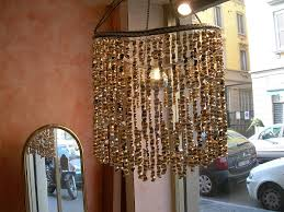 the recycled coffee bag chandelier 60 bags 2 bike chains