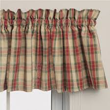 Plaid Kitchen Curtains Valances Straight Valances Country Style Curtains