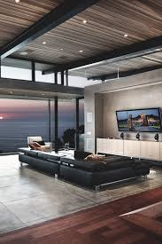 view modern house lights. Exellent Lights Interior  Modern Living Room Light And Views Views Inspiration  Architecture Homes Clean Lines Future House Wood FLoors Cement  On View Lights