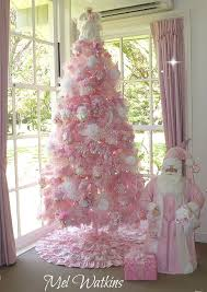 Large Pink and White Christmas Tree