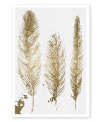 oliver gal gold feathers wall art by oliver on gold leaf feather wall art with gold leaf feather framed print 20 x 35 feather wall art