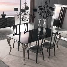 large black glass dining table set  juliettes interiors  chelsea