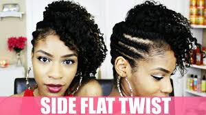 Twist Hair Style side flat twist hairstyle on natural hair youtube 6558 by stevesalt.us