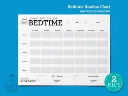 Chore Software 2 Kids Bedtime Routine Chart Reward Chart Chore Chart Etsy