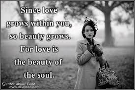 Quotes On Beauty And Love Best Of Love Is The Beauty Of The Soul In Love Quotes And Sayings