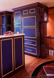 #Kitchen Idea Of The Day: Blue And Purple Kitchen Cabinets. (By Crown
