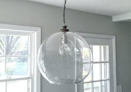 unusual breakfast west elm sculptural glass globe 3 light chandelier