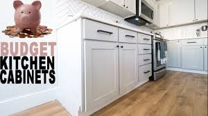 How To Build Kitchen Cabinets On A Budget Youtube