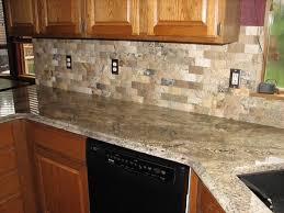 Modern kitchen countertops and backsplash