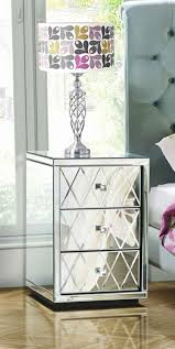 mirrored bedside furniture. pair knightsbridge mirrored bedside tables with 3 drawers furniture i