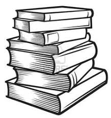 stack of books vector image on vectorstock tall stack of books clipart black and white