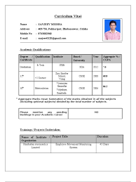 Sample Resume For Campus Interview Student Resume Format For Campus Interview Resume Corner 4