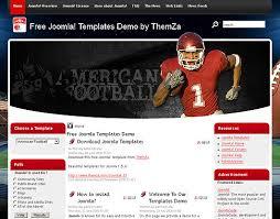 joomla football template. American Football Free Joomla 15 Template from ThemZa