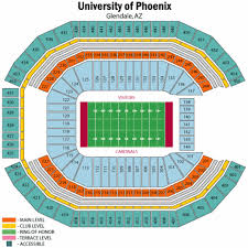 Cardinals Stadium Seating Chart Arizona Arizona Cardinals Seating Chart Seat Views Tickpick