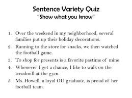 "unit writing writing a personal essay a personal essay is a  sentence variety quiz ""show what you know"" 1 over the weekend in my"