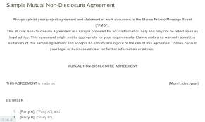 Simple Nda Template Free Non Disclosure Agreement Template Basic Nda Free One Way T Form 2
