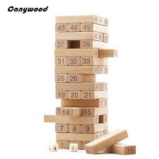 Game Played With Wooden Blocks Wood Blocks Children Wooden Toys Tumbling Stacking Jenga Tower 43