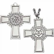 luther rose pect cross necklace sterling silver p 144 s