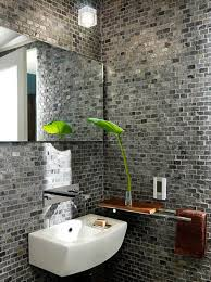 Bathroom: Awesome Bathroom With Brick Walls And Plant Ideas - Brick Bathroom