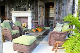 pool house furniture. wicker furniture sits elegantly and casually on the porch of bunny williamsu0027 pool house