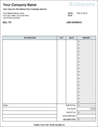 free estimate forms templates free estimate template for construction companies compliments of fast easy accounting 206 361 3950