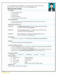 Resume Fresh Sample Resume Templates Word Document Sample Resume