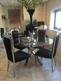 dining room chairs set of 4 gl chrome cross leg dining table set 4 black chairs