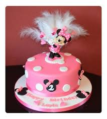 Minnie Mouse with keepsake topper cake by Cakes by Landa