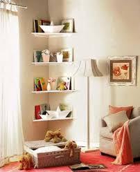 storage organization around corner floating shelves corner bookshelf