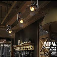 ceiling track lighting. EuSolis Loft Vintage Industrial Iron Mount Spotlight E27 Track Lighting  Ceiling Shop Light Fixtures LED Pendant Ceiling Track Lighting