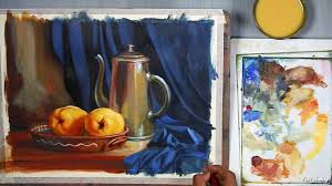 realistic still life acrylic painting tutorial