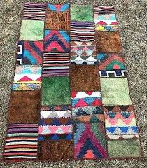 patchwork area rug handmade carpet crazy quilt wall hanging cowhide rugs