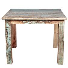 Small Distressed Dining Table Reclaimed Wood Distressed Small Kitchen Dining Table