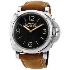 panerai luminor 1950 black dial leather men s watch pam00372