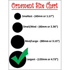 Ornament Size Chart Sleetly Christmas Ball Ornaments Transparent White Swirl 4 70 Inch Set Of 4