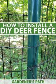 how to install a deer fence to keep