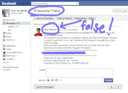 Tian Facebook scam Blog Zynga Poker Message Warning For