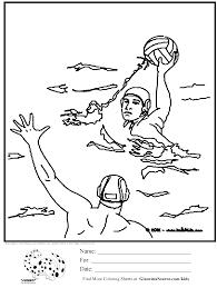 Olympic Colouring Page Water Polo Kleurplaat Sporten Waterpolo