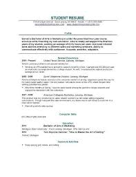 College Student Resume Examples New Graduate School Resume Template