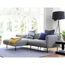 valletta left hand corner sofa dark grey