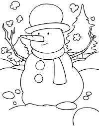 Small Picture Snowman Preschool Coloring Pages Winter Free Winter Coloring