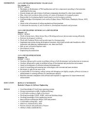 Resume Templates Literarywondrous Java Format Developer Entry Level ...