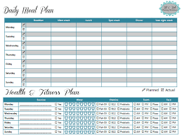 Workout Plan Sheet Weekly Health And Fitness Planning Worksheet Pin For