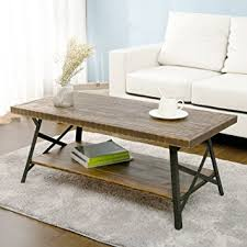 end tables in living room. harper\u0026bright designs 43\u0026quot; wood coffee table with metal legs, end table/living room tables in living t
