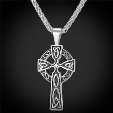 details about usa vintage celtic cross pendant stainless steel necklace for men 22 adjustable