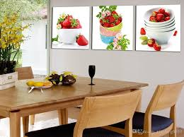 fruit strawberry canvas painting modern wall paintings for kitchen wall picture paint on canvas printsno frame