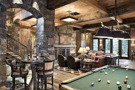 ultimate basement man cave. Ultimate Man Cave Bar Rustic With Pastel Furniture Bay Swivel Stool Stone Fireplace . Basement