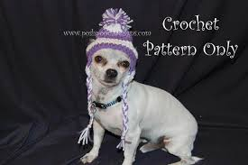 Crochet Dog Hat Pattern Stunning Striped Ear Flap Dog Hat For Small Dogs Craftsy