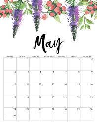 April May 2020 Calendar Printable Free Printable Calendar 2020 Floral Paper Trail Design